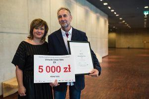 Laureat pierwszego miejsca – Lech Grabowski wraz z Edytą Jungowską, fot Czarna Zebra