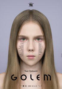 Golem Kleczewskiej i Chotkowskiego - plakat proj. Homework (mat. pras. Teatru Żydowskiego)