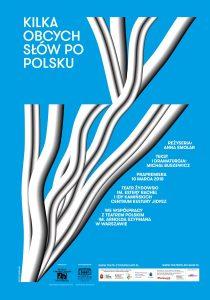 Kilka obcych słów po polsku - plakat, proj. Edgar Bąk
