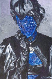 Aleksandra Prusinowska, PORTRET DAMY, olej na płótnie, 60x40cm, 2015