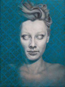 Joanna Kaucz, bez tytułu, olej na desce, 40x30 cm, 2017