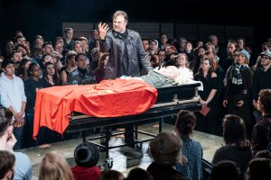 David Morrissey (Mark Anthony) -- Julius Caesar at the Bridge Theatre - Photo credit Manuel Harlan