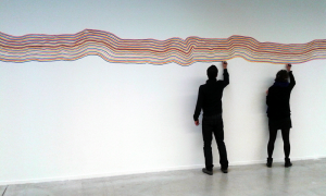 Sol LeWitt do it instruction at Frac des pays de la LoireHAB Galerie in Nantes, 2016. Courtesy of Independent Curators International